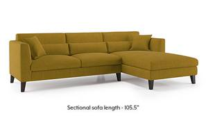 Lewis Sectional Sofa (Olive Green)