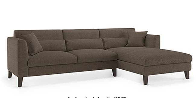 Lewis Sofa (Fabric Sofa Material, Regular Sofa Size, Soft Cushion Type, Sectional Sofa Type, Sectional Master Sofa Component, Pine Brown)