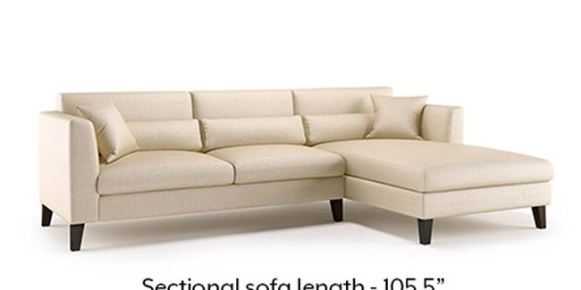Lewis Sofa (Pearl, Fabric Sofa Material, Regular Sofa Size, Soft Cushion Type, Sectional Sofa Type, Sectional Master Sofa Component)