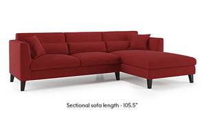 Lewis Sectional Sofa (Salsa Red)