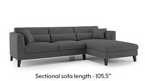 Lewis Sectional Sofa (Steel Grey)