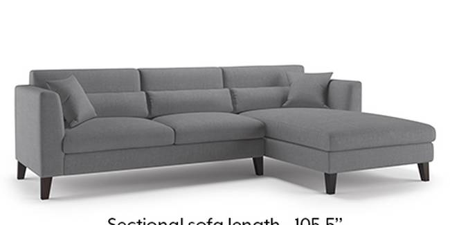 Lewis Sofa (Smoke, Fabric Sofa Material, Regular Sofa Size, Soft Cushion Type, Sectional Sofa Type, Sectional Master Sofa Component)