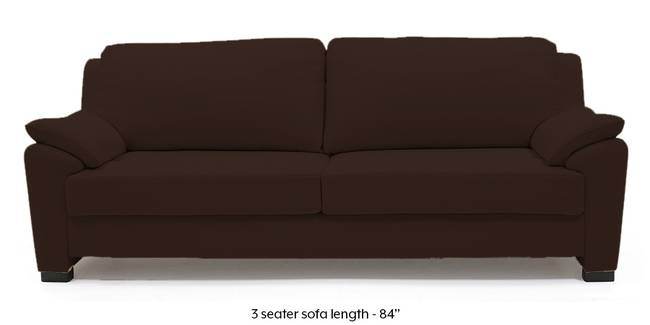 Farina Half Leather Sofa (Chocolate Italian Leather) (Chocolate, Regular Sofa Size, Regular Sofa Type, Leather Sofa Material)