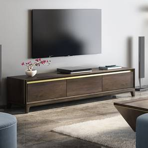 Taarkashi TV Unit (American Walnut Finish) by Urban Ladder
