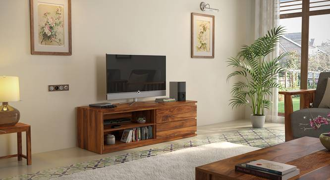 "Vector 55"" TV Unit (Teak Finish) by Urban Ladder"