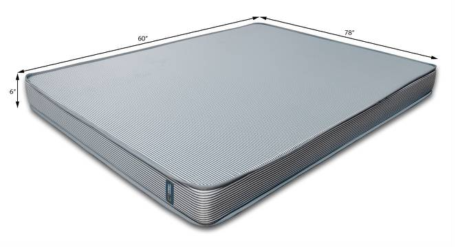 Essential Memory Foam Mattress (Queen Mattress Type, 78 x 60 in (Standard) Mattress Size, 6 in Mattress Thickness (in Inches)) by Urban Ladder - Design 1 Template - 187143