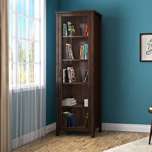 Norland Bookshelf 50 Book Capacity Dark Walnut Finish By Urban Ladder