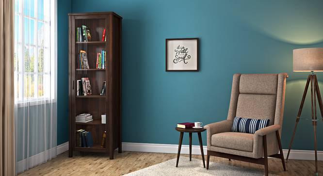 Norland Bookshelf (50-book capacity) (Dark Walnut Finish) by Urban Ladder