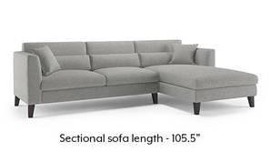 Lewis Sectional Sofa (Vapour Grey)