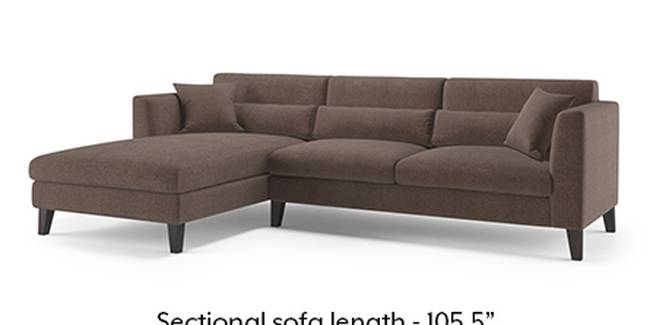 Lewis Sofa (Fabric Sofa Material, Regular Sofa Size, Soft Cushion Type, Sectional Sofa Type, Sectional Master Sofa Component, Daschund Brown)