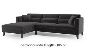 Lewis Sectional Sofa (Pebble Grey)