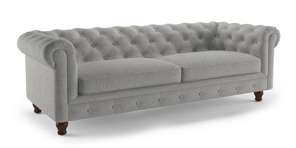 Winchester Fabric Sofa (Vapour Grey) (1-seater Custom Set - Sofas, None Standard Set - Sofas, Fabric Sofa Material, Regular Sofa Size, Regular Sofa Type, Vapour Grey) by Urban Ladder - - 189089