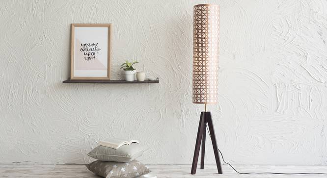 Toliara Floor Lamp (Copper Shade Colour, Dark Walnut Base Finish) by Urban Ladder - Half View Design 1 - 189468