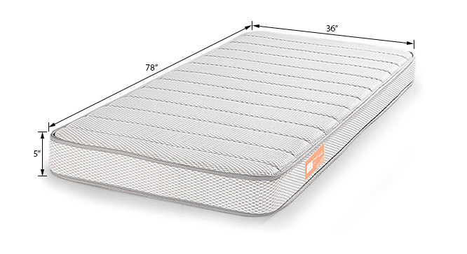 Theramedic Coir & Foam Mattress (Single Mattress Type, 78 x 36 in (Standard) Mattress Size, 5 in Mattress Thickness (in Inches)) by Urban Ladder