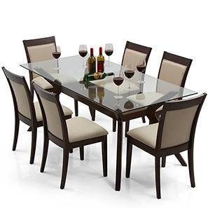 Wesley dalla 6 seat dining table set latte 00 img 0199