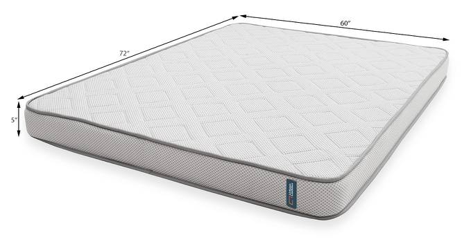 Theramedic Memory Foam Mattress with Temperature Control (Queen Mattress Type, 72 x 60 in Mattress Size, 5 in Mattress Thickness (in Inches)) by Urban Ladder