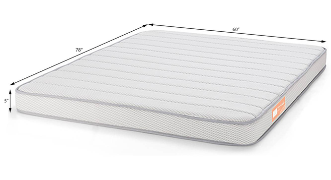 Theramedic Memory Foam Mattress with Temperature Control (Queen Mattress Type, 78 x 60 in (Standard) Mattress Size, 5 in Mattress Thickness (in Inches)) by Urban Ladder - Design 1 Template - 190296