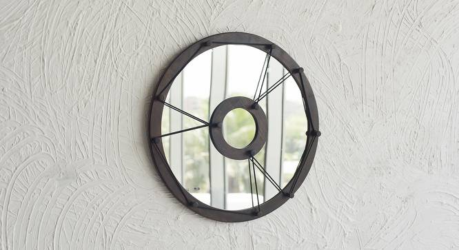 Tahoe Wall Mirror (Dark Walnut Finish) by Urban Ladder