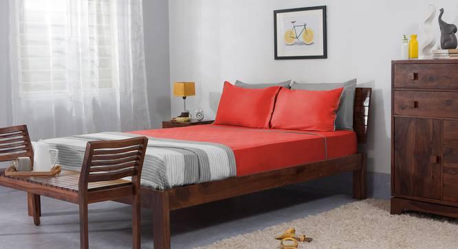 Serena 300 TC Sateen Bedsheet Set (Rust Red, King Size) by Urban Ladder