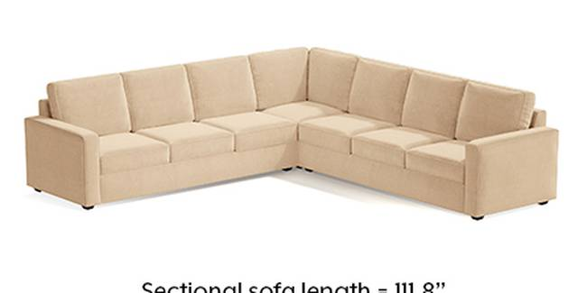 Apollo Sofa Set (Fabric Sofa Material, Regular Sofa Size, Soft Cushion Type, Corner Sofa Type, Corner Master Sofa Component, Birch Beige, Regular Back Type, Regular Back Height)