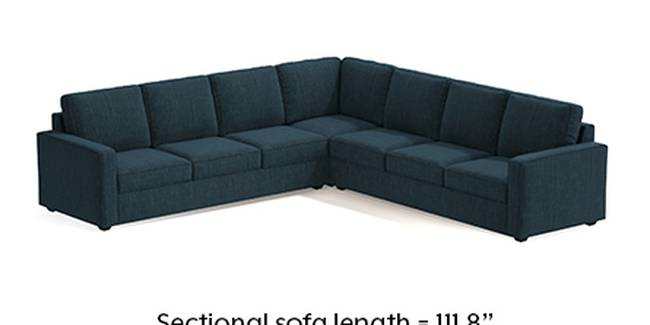 Apollo Sofa Set (Indigo Blue, Fabric Sofa Material, Regular Sofa Size, Soft Cushion Type, Corner Sofa Type, Corner Master Sofa Component, Regular Back Type, Regular Back Height)