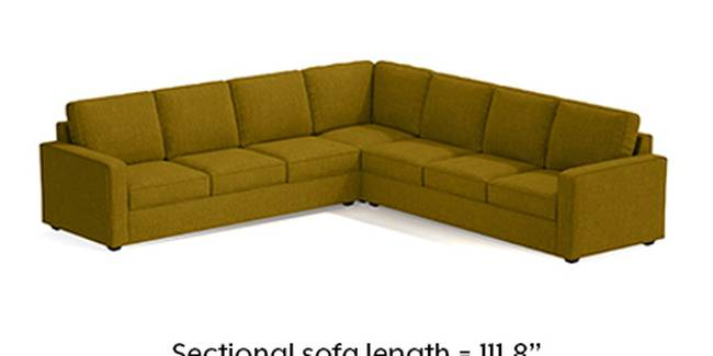 Apollo Sofa Set (Olive Green, Fabric Sofa Material, Regular Sofa Size, Soft Cushion Type, Corner Sofa Type, Corner Master Sofa Component, Regular Back Type, Regular Back Height)