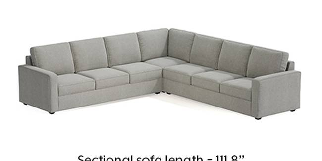 Apollo Sofa Set (Fabric Sofa Material, Regular Sofa Size, Soft Cushion Type, Corner Sofa Type, Corner Master Sofa Component, Vapour Grey, Regular Back Type, Regular Back Height)