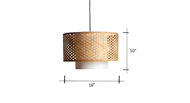Kanabera Hanging Lamp (Natural) by Urban Ladder - Dimension Design 1 - 191593