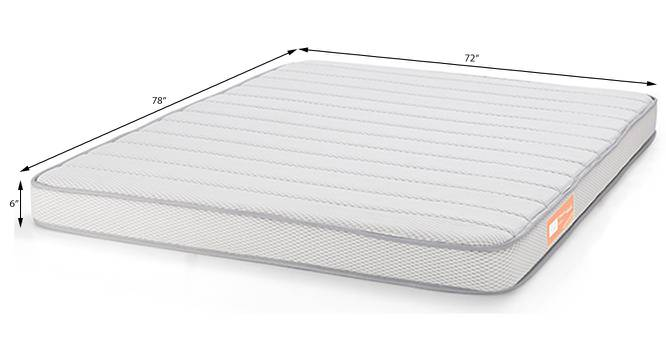 Theramedic Coir & Foam Mattress (King Mattress Type, 78 x 72 in (Standard) Mattress Size, 6 in Mattress Thickness (in Inches)) by Urban Ladder