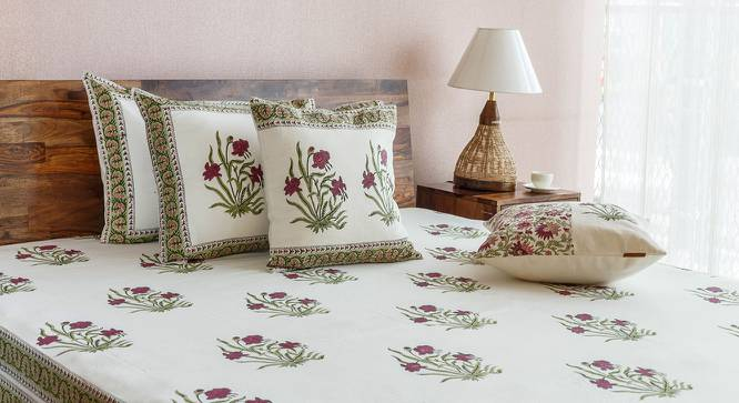 """Ayana Cushion Cover - Set Of 2 (16"""" X 16"""" Cushion Size, Multi Colour, Border Pattern) by Urban Ladder"""