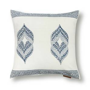 "Basra Cushion Cover - Set Of 2 (Blue, 16"" X 16"" Cushion Size, Element Pattern) by Urban Ladder"
