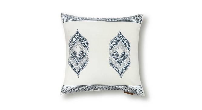 "Basra Cushion Cover - Set Of 2 (Blue, 16"" X 16"" Cushion Size, Element Pattern) by Urban Ladder"