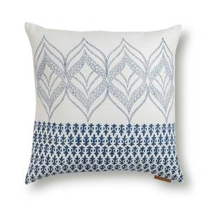 "Basra Cushion Cover - Set Of 2 (Blue, 16"" X 16"" Cushion Size, Contour Pattern) by Urban Ladder"