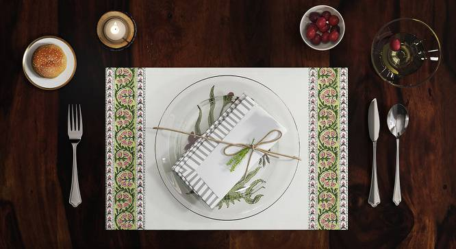 """Ayana Table Mats - Set of 6 (12"""" x 18"""" Table Linen Size, Multi Colour) by Urban Ladder"""