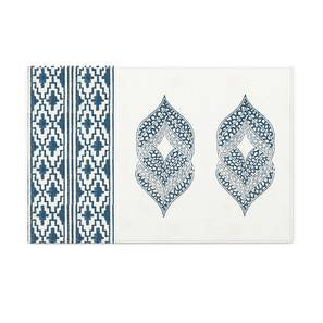 "Basra Table Mats - Set of 6 (Blue, 12"" x 18"" Table Linen Size) by Urban Ladder"