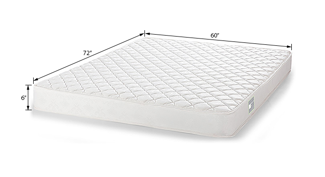 Dreamlite Bonnel Spring Mattress (Queen Mattress Type, 72 x 60 in Mattress Size, 6 in Mattress Thickness (in Inches)) by Urban Ladder