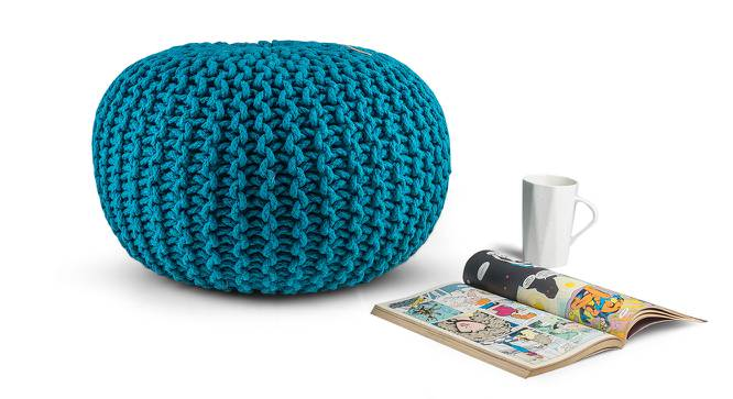Carmen Pouffe (Blue) by Urban Ladder