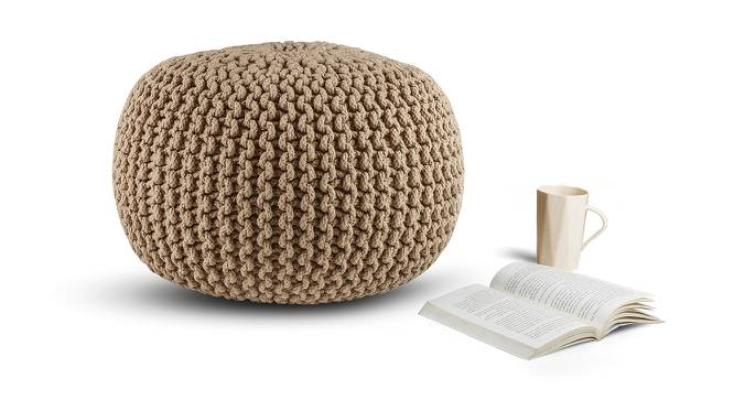 Carmen Pouffe ( Natural Brown) by Urban Ladder