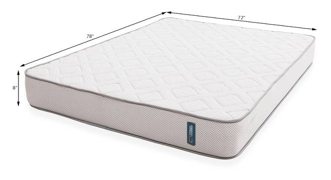 Theramedic Memory Foam Mattress with Latex (King Mattress Type, 78 x 72 in (Standard) Mattress Size, 8 in Mattress Thickness (in Inches)) by Urban Ladder - Design 1 Template - 194112