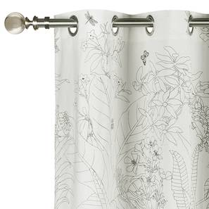 "Secret Garden Door Curtains - Set Of 2 (54"" x 108"" Curtain Size, Contour ) by Urban Ladder"