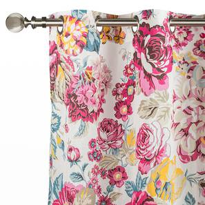 "Floral Fiesta Door Curtains - Set Of 2 (54"" x 108"" Curtain Size, Full Bloom) by Urban Ladder"
