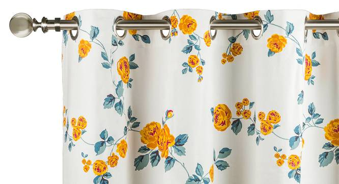 "Floral Fiesta Door Curtains - Set Of 2 (54"" x 108"" Curtain Size, Wild Rose) by Urban Ladder"