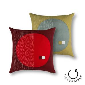 "Colour Block Cushion Covers - Set Of 2 (16"" X 16"" Cushion Size, Orb Pattern) by Urban Ladder"