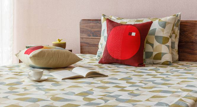 """Colour Block Cushion Covers - Set Of 2 (16"""" X 16"""" Cushion Size, Orb Pattern) by Urban Ladder"""