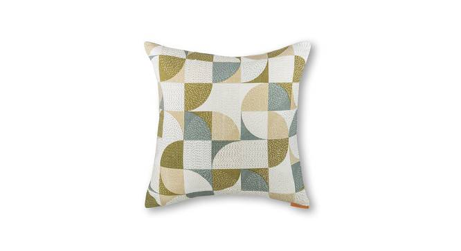 "Colour Block Cushion Covers - Set Of 2 (16"" X 16"" Cushion Size, Curves & Lines  Pattern) by Urban Ladder"