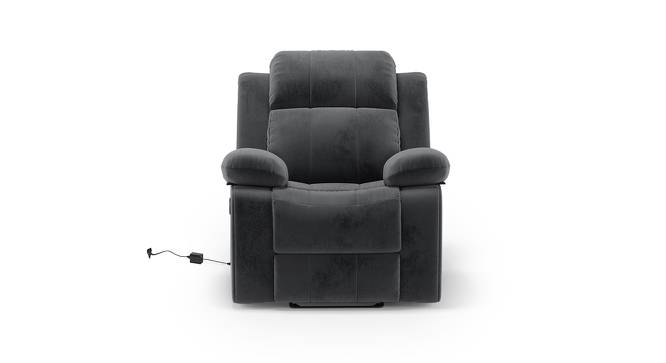 Robert Motorized Recliner (Grey Fabric) by Urban Ladder - Front View Design 1 - 195145