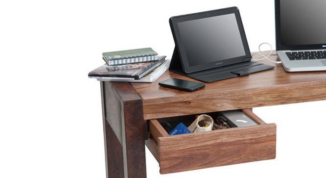 Austen - Adams Study Set (Two-Tone Finish, Grey) by Urban Ladder