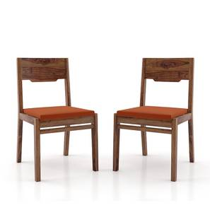 Kerry Dining Chairs - Set Of 2 (Teak Finish, Burnt Orange) by Urban Ladder - Design 1 Full View - 195524