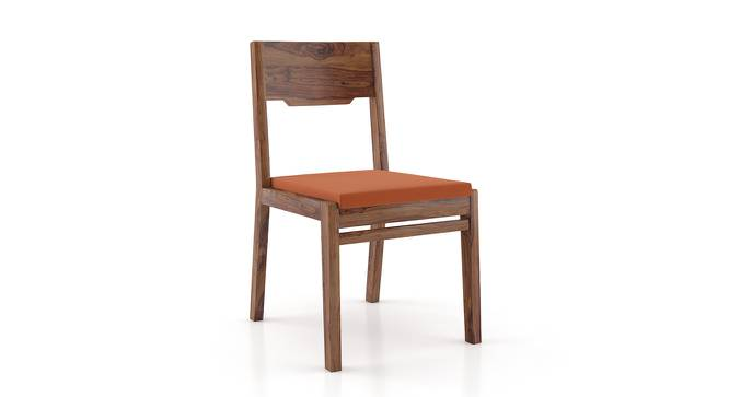 Kerry Dining Chairs - Set Of 2 (Teak Finish, Burnt Orange) by Urban Ladder - Front View Design 1 - 195525