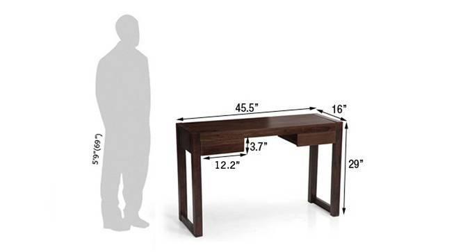 Austen compact desk mahogany 17